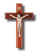 Wall Crucifix, Beechwood 15cm (CR811)