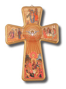 Wall Crucifix: Wood Holy Spirit 33cm