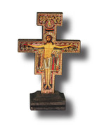 Standing Crucifix: SAN DAMIANO 9cm