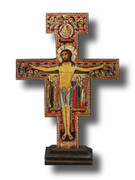Standing Crucifix: SAN DAMIANO 15cm