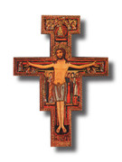 Wall Crucifix: SAN DAMIANO 14cm