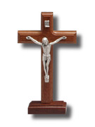Standing Crucifix, Beechwood 17cm (CR814B)