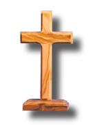 Standing Cross: Olive Wood 11cm (CROLB9C)