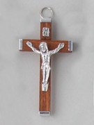 Crucifix Pendant: Wood 6cm Brown (CRAL60N)