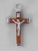 Crucifix Pendant: Wood 4.5cm Brown (CRAL45N)