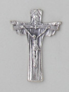 Crucifix Pendant: Trinity Silver 5.5cm