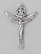 Crucifix Pendant: Silver Trinity 5.5cm