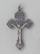 Crucifix Pendant: Silver PARDON 5.5cm