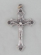 Crucifix Pendant: Silver Decorative 5cm