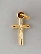 Crucifix Pendant: Gilt Tubular 1.5cm (CR8415G)