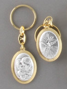 Keyring: Double Sided: Holy Family/Holy Spirit