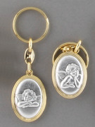 Keyring: Double Sided: Two Angels/Cherubs