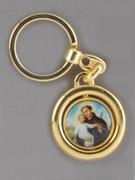 Keyring: Spinning St Anthony/St Francis