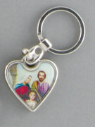 Keyring: Heartshape Holy Family
