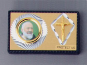 Car Plaque: Double Padre Pio/Crucifix