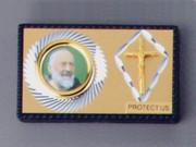 Car Plaque Double Padre Pio/Crucifix