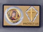 Car Plaque, Double OLPS/Crucifix
