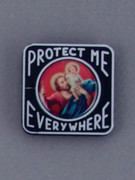 Car Plaque: Protect Me Everywhere: St Christopher