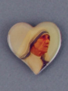 Car Plaque: Heart Shape: Mother Teresa