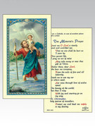 Holy Cards: 800 SERIES - ST Christopher/Motorists Prayer