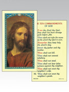 Holy Cards: 800 SERIES - Ten Commandments
