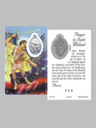 Window Charm Prayer Card St Michael