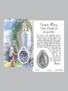 Window Charm Prayer Card: OL Lourdes