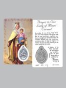 Window Charm Prayer Card: OL Mt Carmel