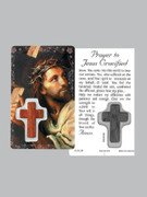 Window Charm Prayer Card: Jesus Crucified