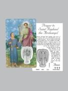 Window Charm Prayer Card, St Raphael Archangel