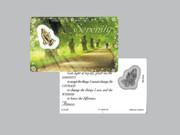 Window Charm Prayer Card: Serenity