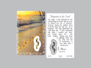 Window Charm Prayer Card, Footprints