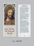 Bookmark: Head Jesus / Footprints