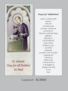 Bookmark: Prayer for Mother's/St Gerard (pk25)