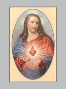 Memorial Cards Sacred Heart Jesus