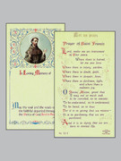 Memorial Holy Cards: St Francis of Assisi