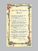 Laminated Holy Verse Cards: Old Woman's Rosary