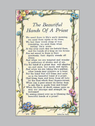 laminated holy verse cards hands of a priest ark religious supplies