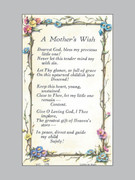 Laminated Holy Verse Cards: A Mother's Wish