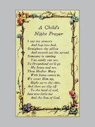 Laminated Holy Verse Cards, Child's Night Prayer