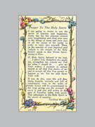 Laminated Holy Verse Cards: Prayer Holy Spirit