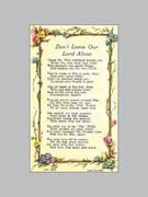 Holy Verse Cards (pkt100): Don't Leave Our Lord Alone