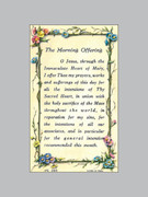 Laminated Holy Verse Cards: Morning Offering