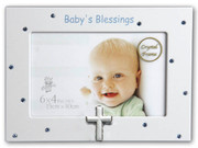 Baby Blessings Photo Frame Blue