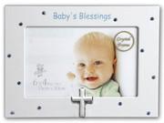 Baby Blessings Photo Frame Blue