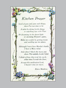 Laminated Holy Verse Cards: Kitchen Prayer