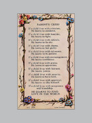 Laminated Holy Verse Cards: Parent's Creed