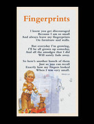 Laminated Holy Cards: Fingerprints