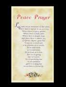 Holy Cards (pkt100): Peace Prayer