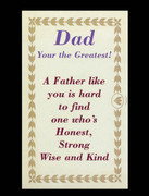 Laminated Holy Cards: Greatest Dad